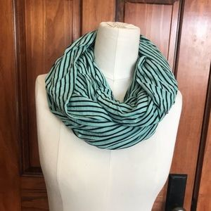 J Crew SAMPLE striped knit infinity scarf